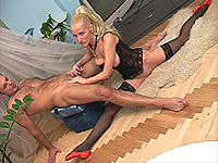 Hot blonde skinny ballerina.