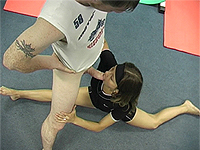 Hot contortion sex in the fitness center.